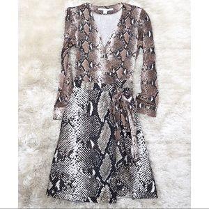 324c0094d2925 Diane Von Furstenberg Dresses - Diane von Furstenberg Python Amelia Wrap  Dress
